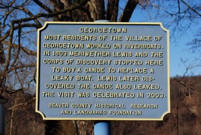 Georgetown Marker image. Click for full size.