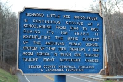 Richmond Little Red Schoolhouse Marker image. Click for full size.