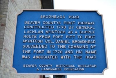 Brodheads Road Marker image. Click for full size.