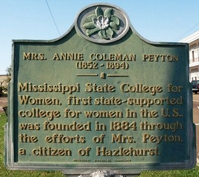 Mrs. Annie Coleman Peyton Marker image. Click for full size.
