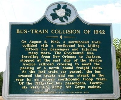 Bus-Train Collision of 1942 Marker image. Click for full size.
