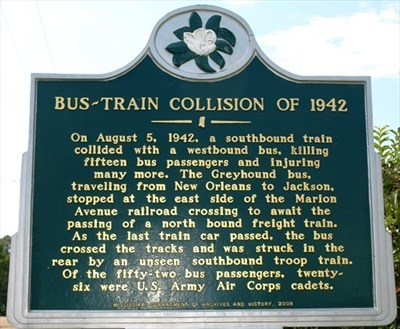 Bus-Train Collision of 1942 Marker