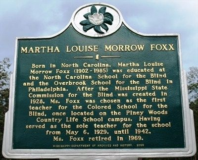 Martha Louise Morrow Foxx Marker image. Click for full size.