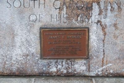 James F. Byrnes Monument<br>Northeast Plaque image. Click for full size.