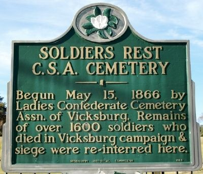 Soldiers Rest CSA Cemetery Marker image. Click for full size.