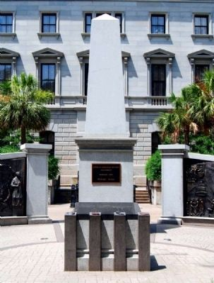 African-American History Monument<br>Center Display and Obelisk image. Click for full size.