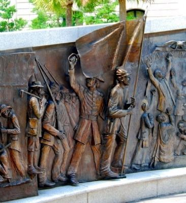 African-American History Monument<br>South Panel image. Click for full size.