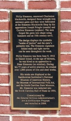 Philip Simmons Marker image. Click for full size.