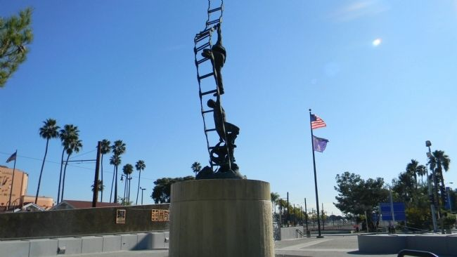 "American Merchant Marine Veterans Memorial - ""Jacobs Ladder"" monument image. Click for full size."