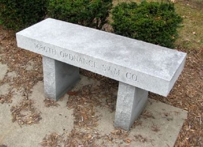 Bench at 458th Bomb Group (H) Memorial image. Click for full size.