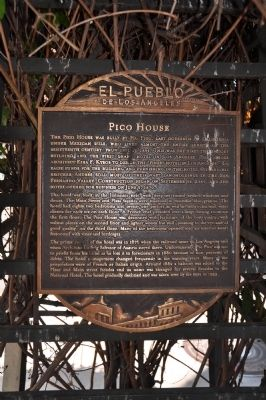 Pico House Marker image. Click for full size.