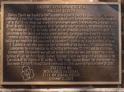 Calvary Episcopal Church Marker image. Click for full size.