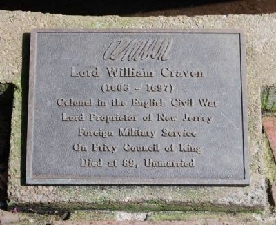 Lord William Craven Marker image. Click for full size.