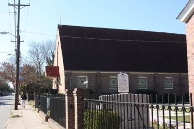 Calvary Episcopal Church and Marker along Line Street image. Click for full size.