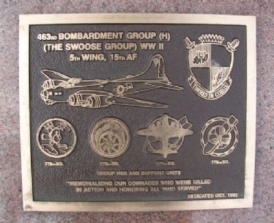 463rd Bombardment Group (H) Marker image. Click for full size.