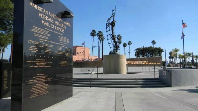 American Merchant Marine Veterans Memorial Wall of Honor Marker image. Click for full size.