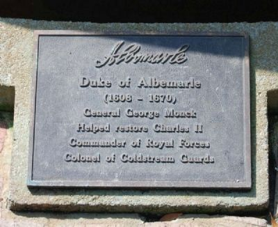 Duke of Albemarle Marker image. Click for full size.