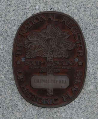 Columbia City Hall Marker image. Click for full size.