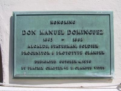 Domínguez Ranch House Marker image. Click for full size.