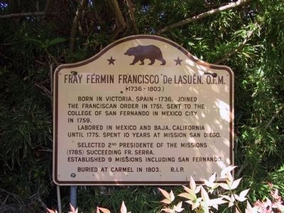 Fray Fermin Francisco de Lasuen, O.F.M.<br>(1726-1803) image. Click for full size.