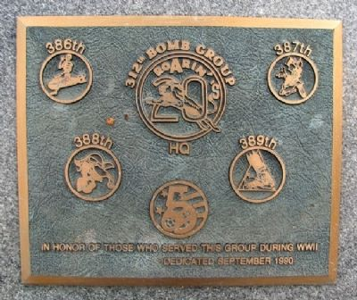 312th Bomb Group Marker image. Click for full size.