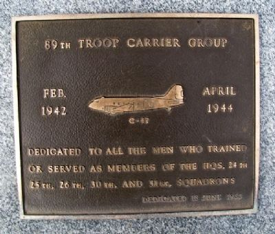 89th Troop Carrier Group Marker image. Click for full size.