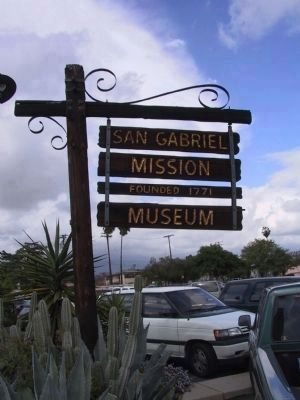 San Gabriel Mission Museum image. Click for full size.