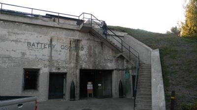 Battery Osgood, entrance to Fort MacArthur Museum image. Click for full size.