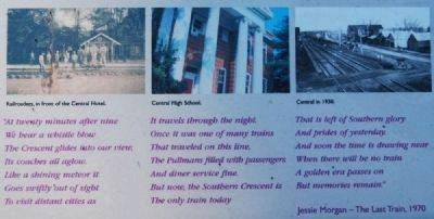The Central History Museum Marker<br><i>The Last Train</i> by Jessie Morgan (1970) image. Click for full size.