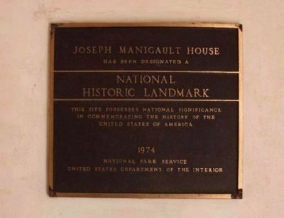 The Charleston Museum&#39;s Joseph Manigault House <i> National Register </i> Plaque #73001688 image. Click for full size.
