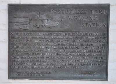 Portuguese Bend Whaling Station Marker image. Click for full size.