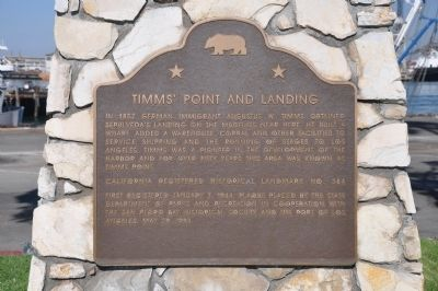 Timms' Point and Landing Marker image. Click for full size.