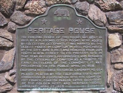 Heritage House Marker image. Click for full size.