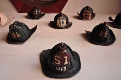 Collection of Los Angeles Fire Department Helmets image. Click for full size.