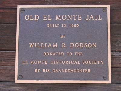 Old El Monte Jail Marker image. Click for full size.