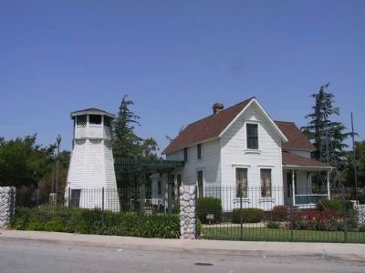 Folk Art Farm House and Water Tower image. Click for full size.