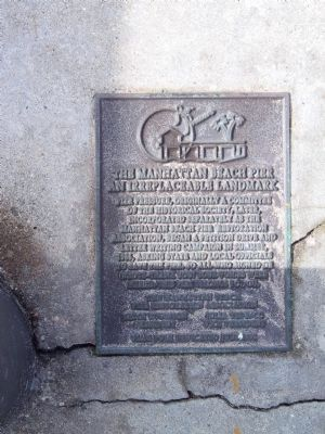 Manhattan Beach State Pier Marker image. Click for full size.