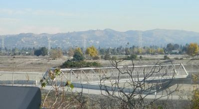 View of the San Gabriel Valley from the Battle of the Rio San Gabriel Marker site image. Click for full size.