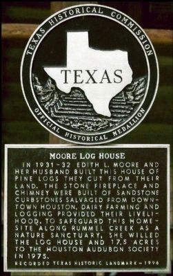 Moore Log House Marker image. Click for full size.