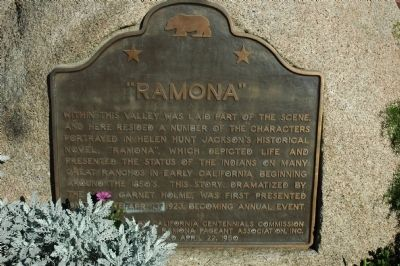"""Ramona"" Marker image. Click for full size."