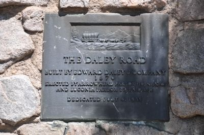 The Daley Road Marker image. Click for full size.