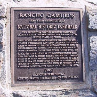 Rancho Camulos Marker image. Click for full size.