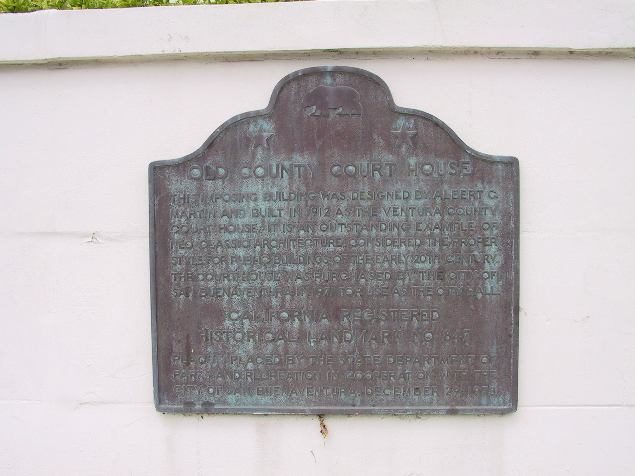 Ventura County Courthouse Marker