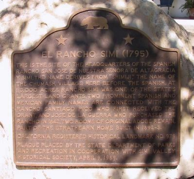 Rancho Simi Marker image. Click for full size.
