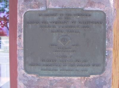 Union Oil Company of California Marker (left) image. Click for full size.