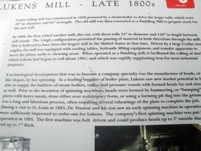 The Lukens Mill - Late 1800s Interpretive - Close-Up image. Click for full size.