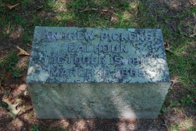 Andrew Pickens Calhoun Tombstone image. Click for full size.