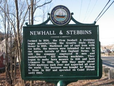 Newhall & Stebbins Marker image. Click for full size.