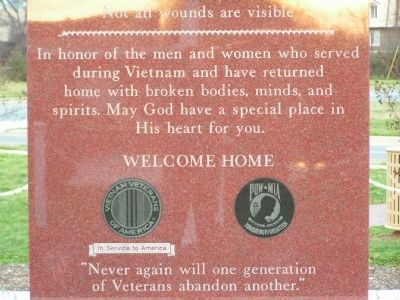 Vietnam Memorial Marker image. Click for full size.