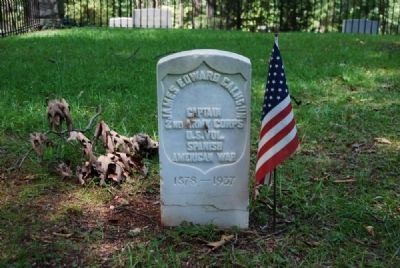 Captain James Edward Calhoun Tombstone image. Click for full size.